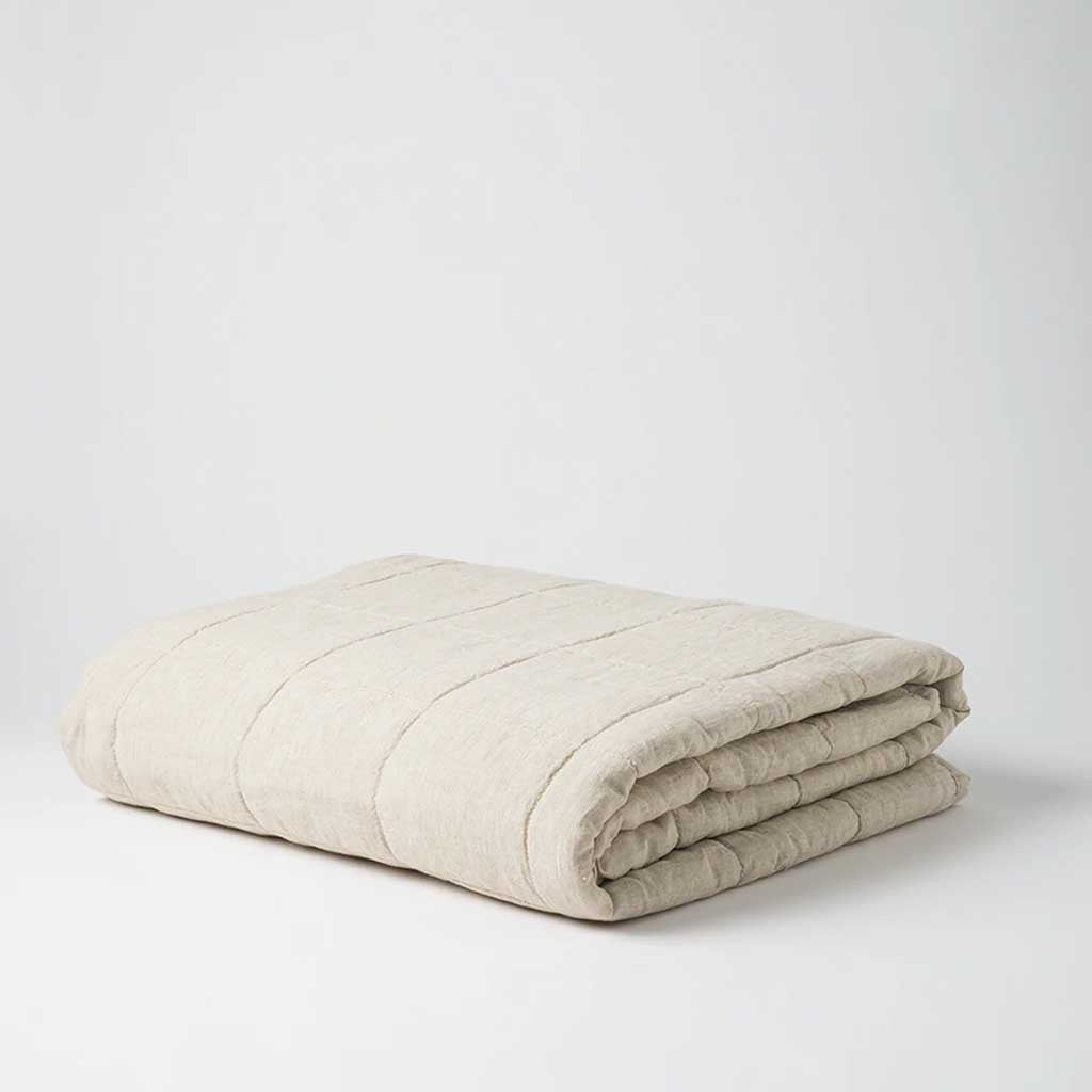 Sove Chambray Linen Quilted Blanket
