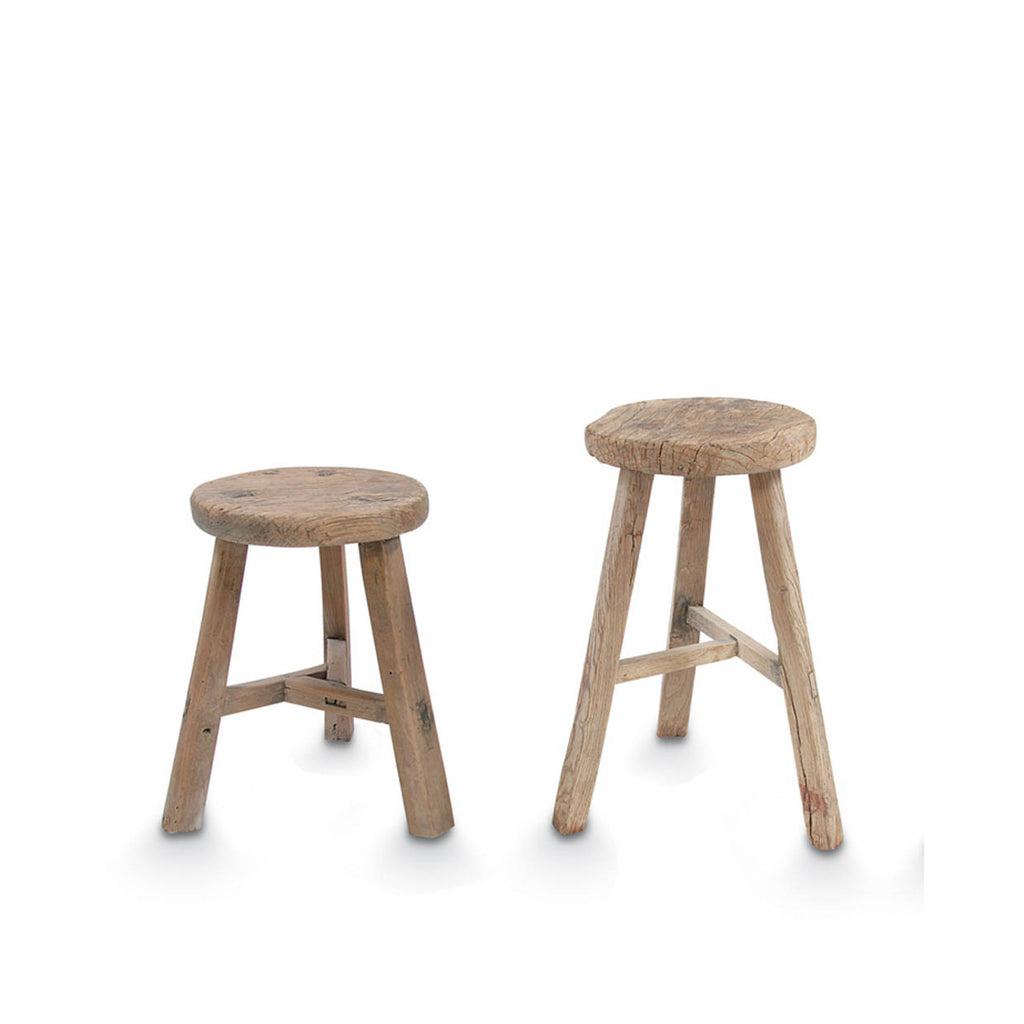 Elm Wood Antique Round Stool