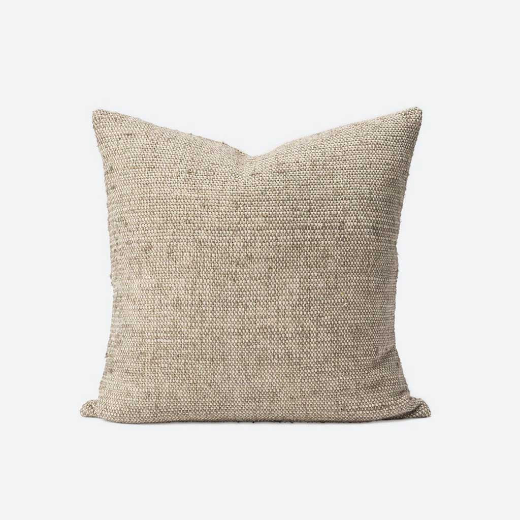 Freida Silk Blend Cushion Cover - Matcha/Natural