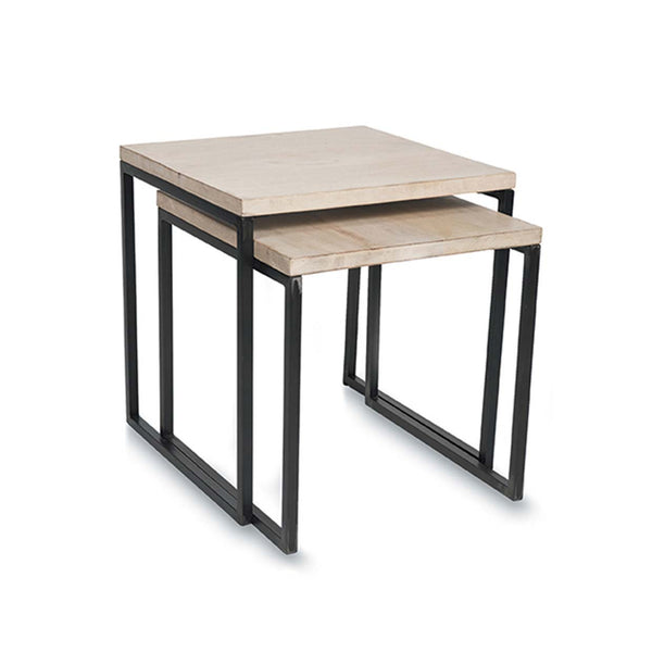 Wooden Nesting Side Tables
