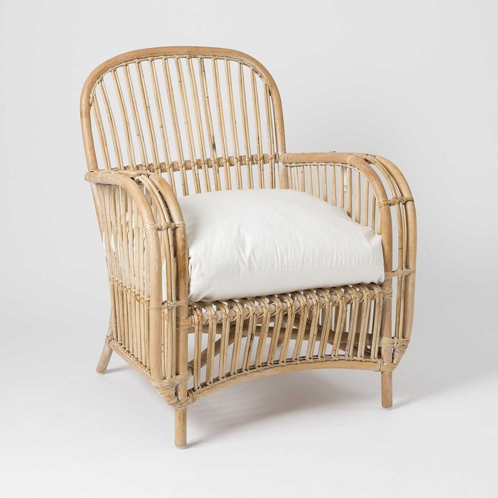 Altan Whitewashed Rattan Chair