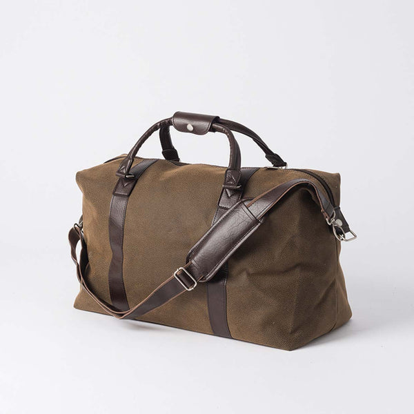 Angola Weekender Bag w/Brown Handles