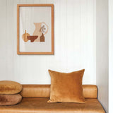 Cotton Velvet Cushion Cover - Crumb