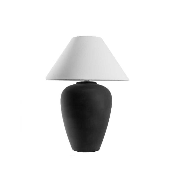 Black Ceramic Lamp w/ Shade
