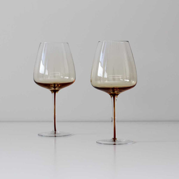 Red Wine Glass - Amber