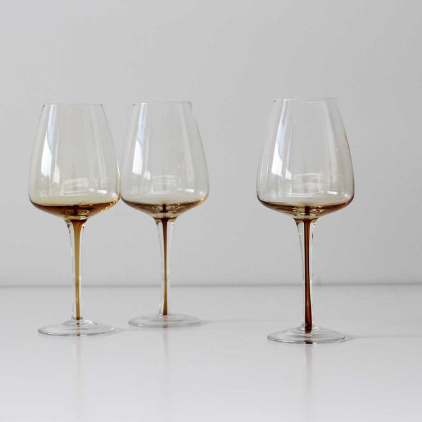 White Wine Glass - Amber