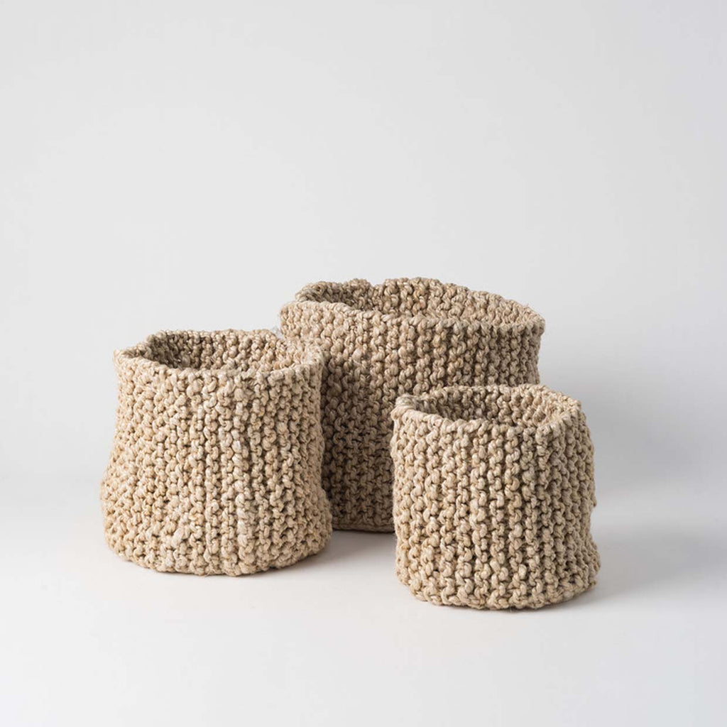 Knitted Jute Basket