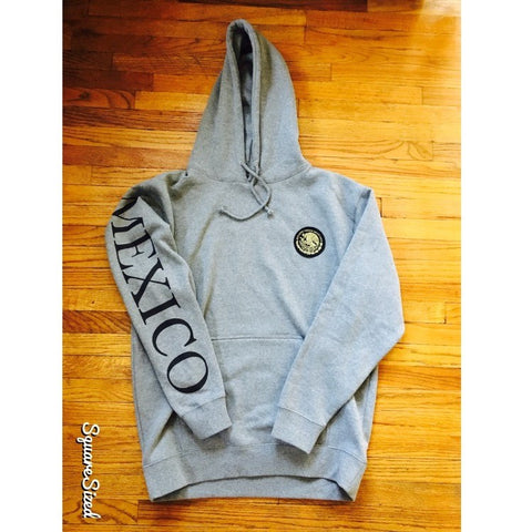 Mexico Classic Hoodie Cool Gray - Black Print