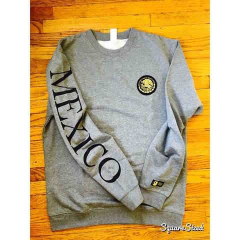 Mexico Classic Crewneck Cool Gray - Black Print