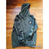 Mexico Classic Hoodie Olive Green - Black Print