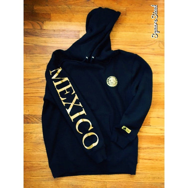 Mexico Classic Hoodie Black  - Gold Print