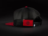 MEXICO Red /Black  Patched Trucker Hat