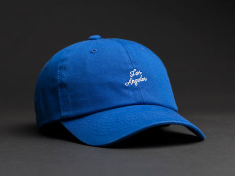 Los Angeles Hand Written Blue Dad Hat