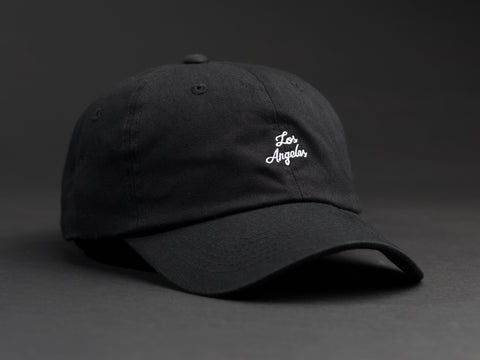 Los Angeles Hand Written Black Dad Hat