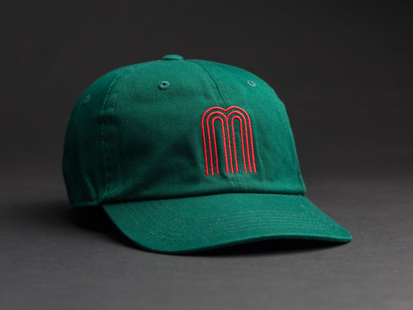 M Red / Green Dad Hat
