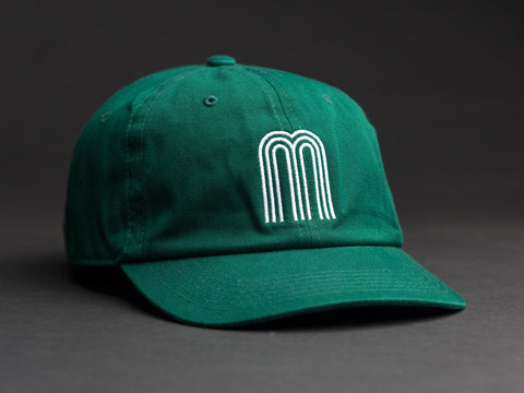 M White / Green Dad Hat