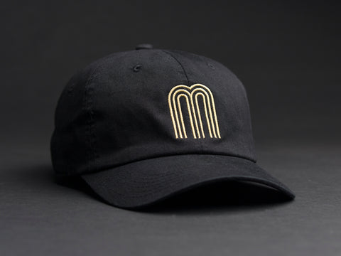 M Gold Black Dad Hat