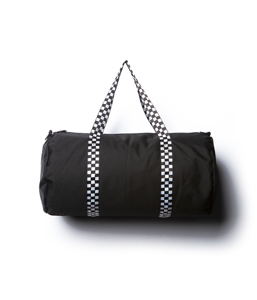 Duffel Bag - Black - Checkers Strap