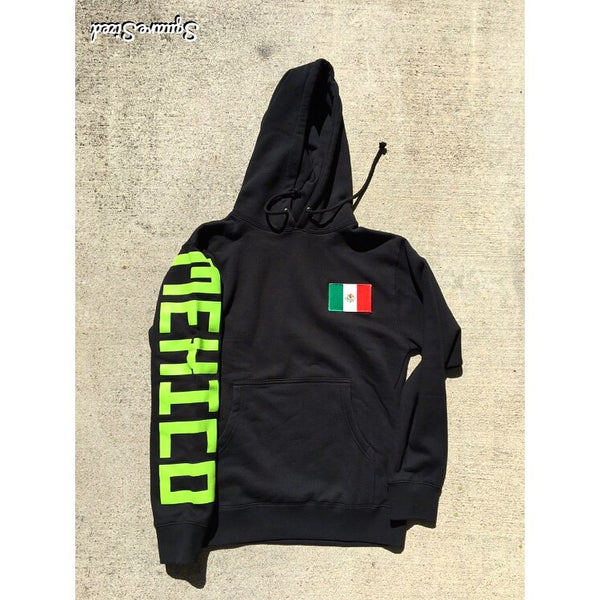 9bd9285f71befb Mexico Classic Hoodie Black   Lime Print - – Belly Of The Beast LA