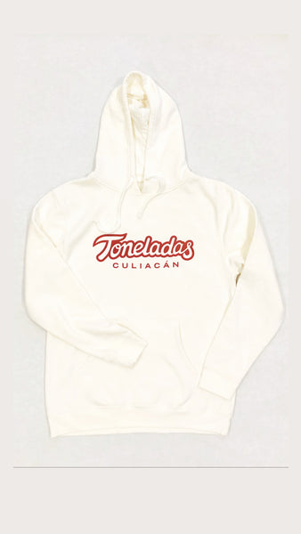 Toneladas BELLY Premium Hoodie Off-White  Color    - Wine Print -
