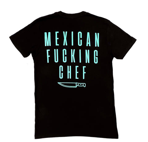 Mexican Fucking Chef - Batalla Tee - Black / Turquoise