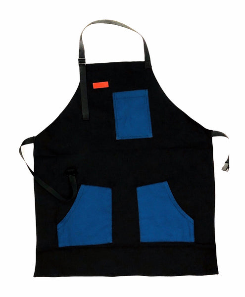 Mexican Fucking Chef Apron  - Black / Royal / Red Accents   -