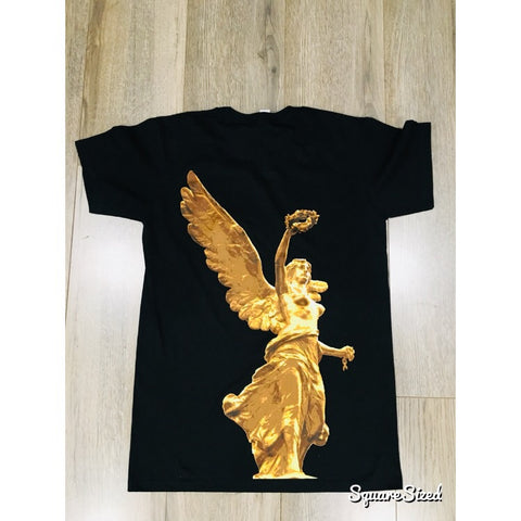 El Angel Tee - Black / Gold Print