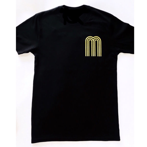 M Collection Classic Tee Black / Canary Yellow