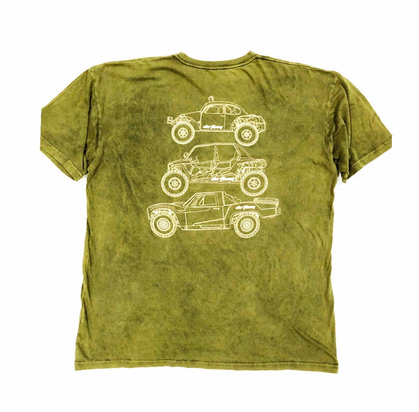 DIRTBAG Class Type Tee Premium Distressed Green - Sand Print