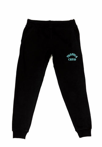Tunnels Crew Black Tech Jogger With Frontal Tiffany Print