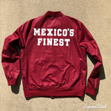 Mexico's Finest  Maroon / White Print and Frontal Patch