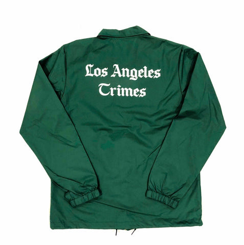 Pine Green Los Angeles Crimes Nylon Button Jacket