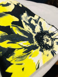 Premium Cut and Sew Off-White  Pocket Tee - Yellow Floral Print  -