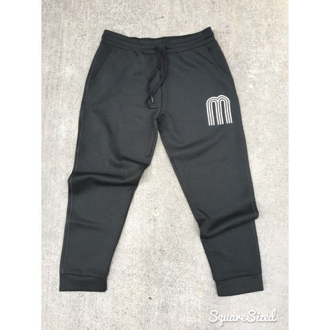 M Army Green Premium Tech Jogger W/ White Frontal Print