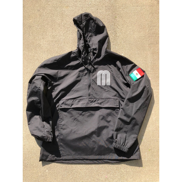 Classic Mexico ALL SEASONS  Jacket M Print and Side Flag Black /White M Print