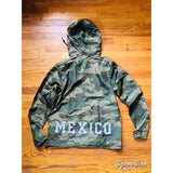 "Mexico Classic Light Weight Track Jacket - FULL CAMO 3M"" WHITE PRINT"""