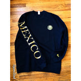 Mexico Classic Crewneck Black  - Gold Print