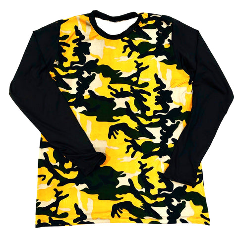 DIRTBAG LONG SLEEVE 100% Custom No Print  Army Camo / Black Sleeves