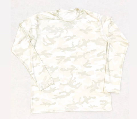 DIRTBAG LONG SLEEVE 100% Custom No Print WHITE CAMO