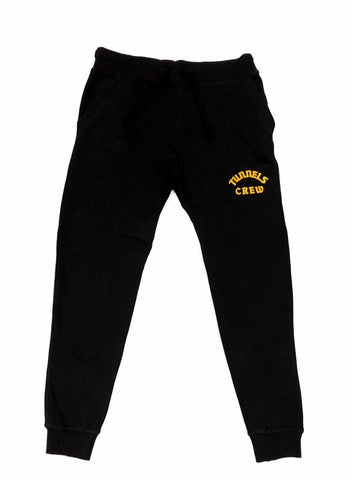 Tunnels Crew Black Tech Jogger With Frontal Mustard Print