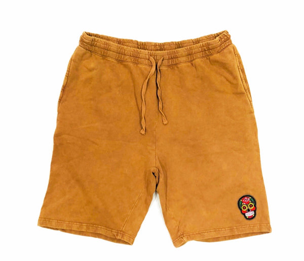 Sand Calavera Black Tech Short Embroidery Felt Multicolor Patch