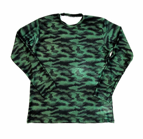 DIRTBAG LONG SLEEVE 100% Custom No Print GREEN CAMO