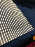 Premium Cut and Sew Navy Pocket Tee - Stripped Navy Pocket  -