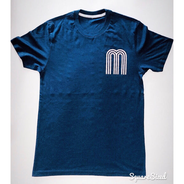 M Collection Classic Tee Navy / Pastel Pink