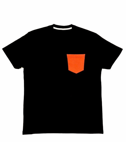 Premium Cut and Sew Black Pocket Tee - Carrot Pocket -