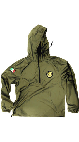 24/7 Veinticuatro/ Siete Mexico Classic Light Weight Track Jacket - Army Olive Jacket