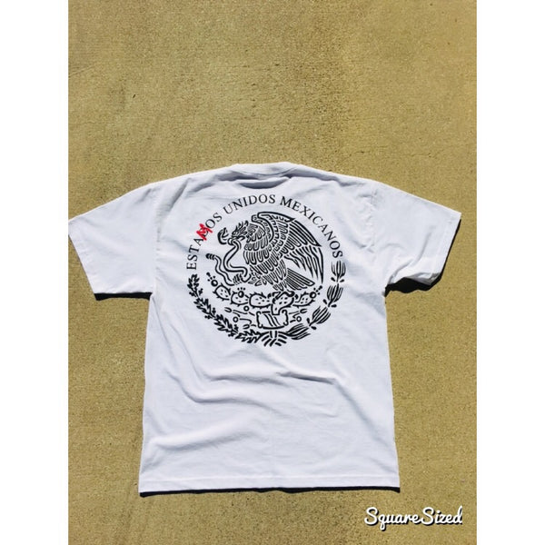 Unidos Mexicanos Tee - White / Black - Red Print