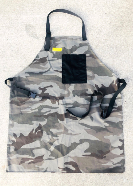 Mexican Fucking Chef Apron  - Gray Camo -