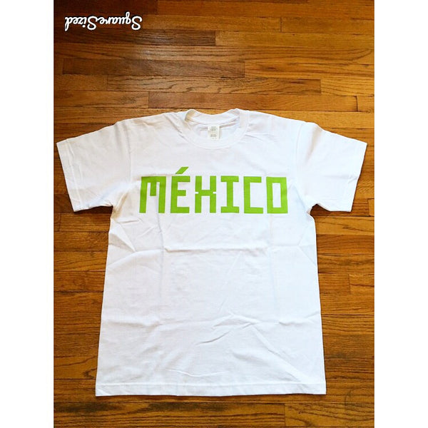 Mexico Classic Tee  -  White / Lime Green