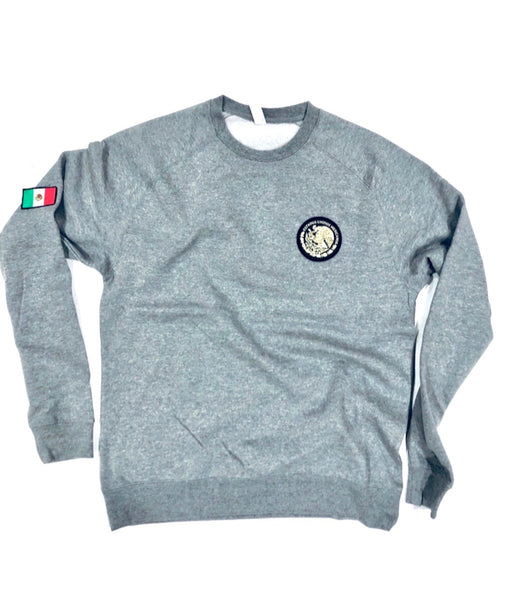 Men's  24/7 Veinticuatro/ Siete Mexico Gray Crewneck